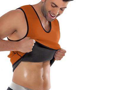 Saunafit thermisch herenshirt | Snel, makkelijk en gezond afvallen oranje
