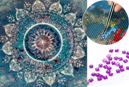 Diamond painting mandala figuren in de aanbieding
