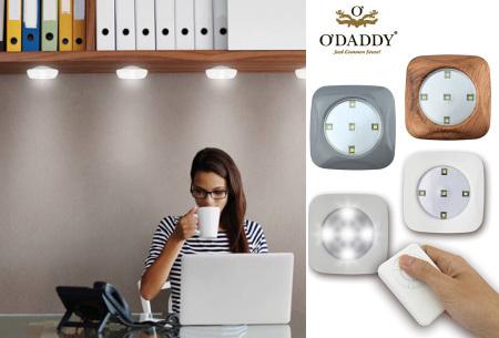 O'Daddy draadloze LED spots  - nu in de SALE