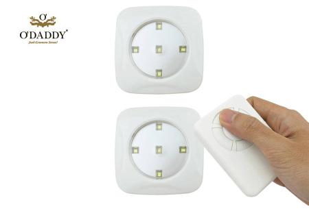 O'Daddy draadloze LED spots | Verlichting op moeilijk bereikbare plekken 3-delig - wit