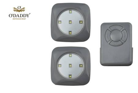 O'Daddy draadloze LED spots | Verlichting op moeilijk bereikbare plekken 3-delig - grijs