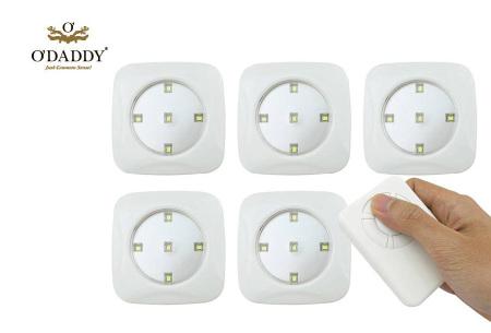 O'Daddy draadloze LED spots | Verlichting op moeilijk bereikbare plekken 6-delig - wit