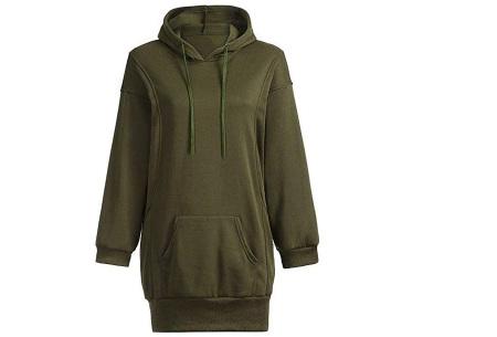 Oversized dames hoodie | Heerlijke warme en comfortabele dames trui Legergroen