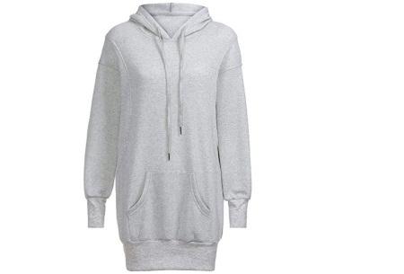 Oversized dames hoodie | Heerlijke warme en comfortabele dames trui Grijs