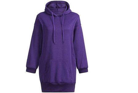 Oversized dames hoodie | Heerlijke warme en comfortabele dames trui Paars
