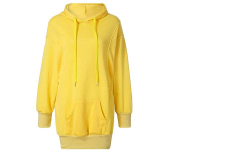 Oversized dames hoodie | Heerlijke warme en comfortabele dames trui Geel