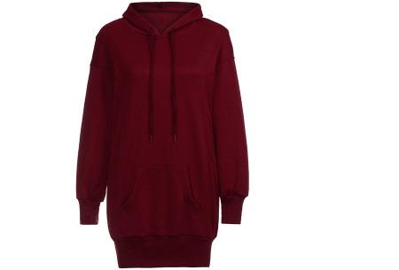 Oversized dames hoodie | Heerlijke warme en comfortabele dames trui Wijnrood