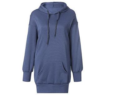 Oversized dames hoodie | Heerlijke warme en comfortabele dames trui Blauw