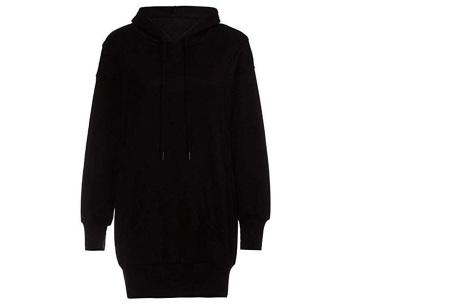 Oversized dames hoodie | Heerlijke warme en comfortabele dames trui Zwart