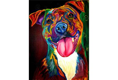 Diamond painting arty editie | Keuze uit 7 uitvoeringen in 3 formaten #2 hond 1