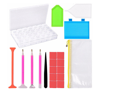 Diamond painting accessoires | Alle handige tools voor de mooiste creaties Starterspakket