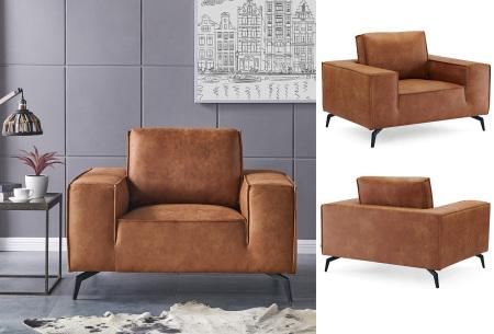 Feel Furniture Weston fauteuil of bank | Luxe design met comfortabel zitvlak Fauteuil - cognac