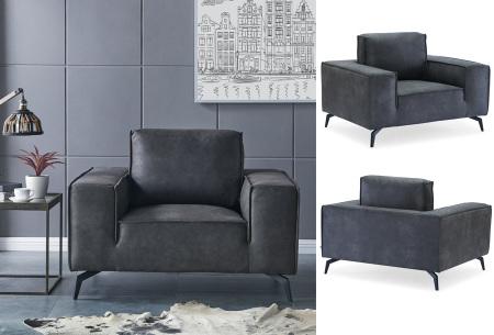 Feel Furniture Weston fauteuil of bank | Luxe design met comfortabel zitvlak Fauteuil - donkergrijs