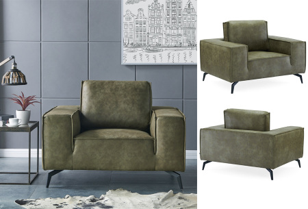 Feel Furniture Weston fauteuil of bank | Luxe design met comfortabel zitvlak Fauteuil - groen