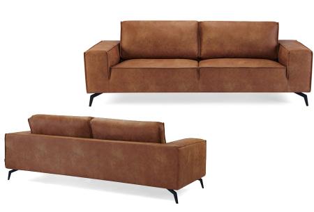 Feel Furniture Weston fauteuil of bank | Luxe design met comfortabel zitvlak Sofa - cognac