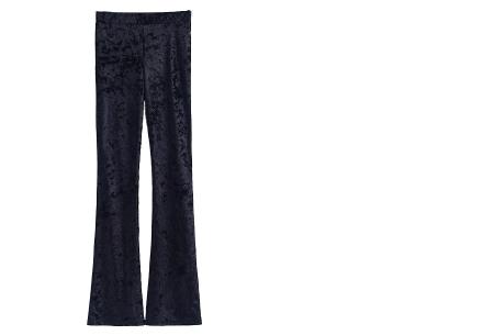 Flared velvet broek | Stijlvol, vrouwelijk & helemaal on trend Zwart B
