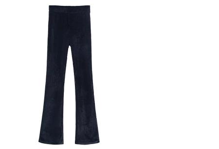 Flared velvet broek | Stijlvol, vrouwelijk & helemaal on trend Zwart A