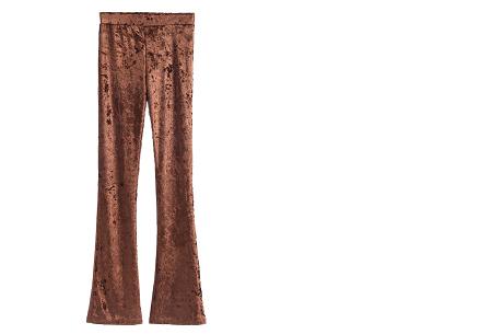 Flared velvet broek | Stijlvol, vrouwelijk & helemaal on trend Bruin