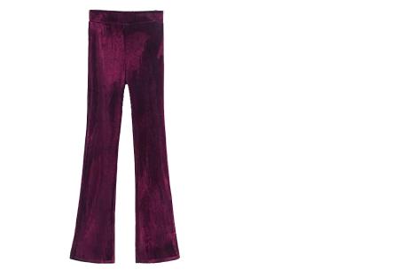 Flared velvet broek | Stijlvol, vrouwelijk & helemaal on trend Wijnrood