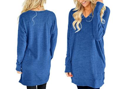 V-neck sweater dress | Verkrijgbaar in 8 kleuren  blauw