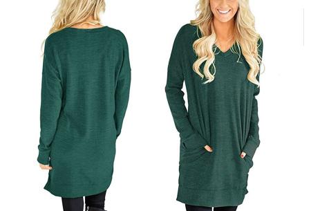 V-neck sweater dress | Verkrijgbaar in 8 kleuren  groen