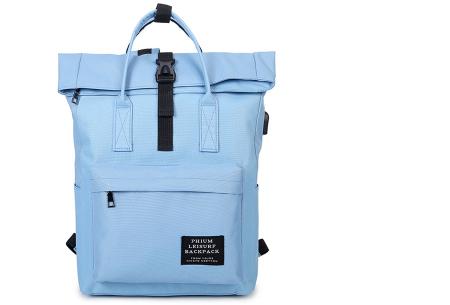 Rugtas & handtas in 1 | Multifunctionele tas met een trendy look blauw