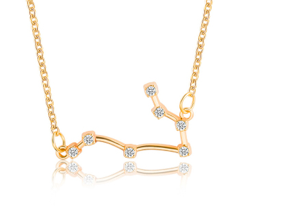 Sterrenbeeld ketting | Elegante ketting met persoonlijke touch tweelingen - goudkleurig