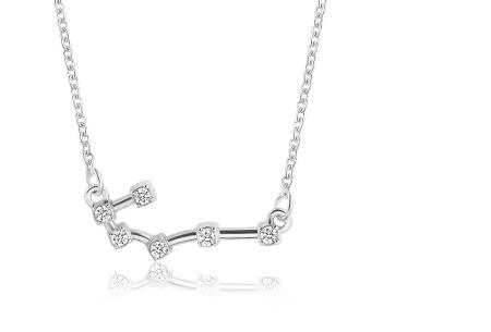 Sterrenbeeld ketting | Elegante ketting met persoonlijke touch kreeft - zilverkleurig