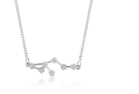 Sterrenbeeld ketting | Elegante ketting met persoonlijke touch leeuw - zilverkleurig
