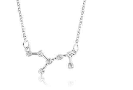 Sterrenbeeld ketting | Elegante ketting met persoonlijke touch maagd - zilverkleurig
