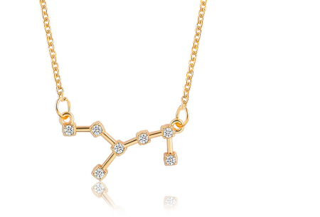 Sterrenbeeld ketting | Elegante ketting met persoonlijke touch maagd - goudkleurig