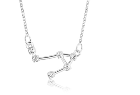 Sterrenbeeld ketting | Elegante ketting met persoonlijke touch weegschaal - zilverkleurig