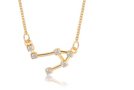 Sterrenbeeld ketting | Elegante ketting met persoonlijke touch weegschaal - goudkleurig
