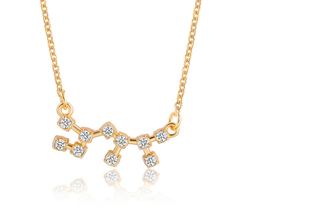Sterrenbeeld ketting | Elegante ketting met persoonlijke touch boogschutter - goudkleurig
