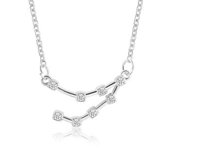 Sterrenbeeld ketting | Elegante ketting met persoonlijke touch steenbok - zilverkleurig