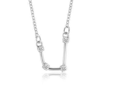 Sterrenbeeld ketting | Elegante ketting met persoonlijke touch waterman - zilverkleurig