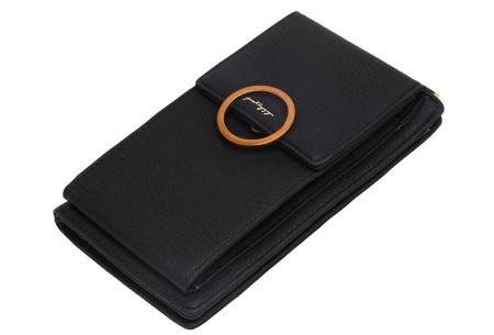 Portemonnee tasje | Met vele handige vakjes en ruimte voor je smartphone zwart