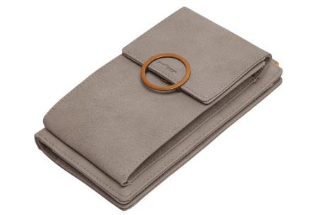 Portemonnee tasje | Met vele handige vakjes en ruimte voor je smartphone camel