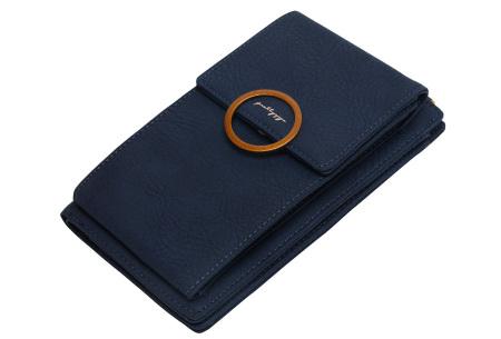 Portemonnee tasje | Met vele handige vakjes en ruimte voor je smartphone donkerblauw