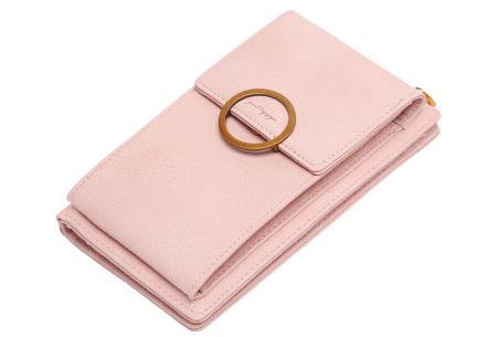Portemonnee tasje | Met vele handige vakjes en ruimte voor je smartphone roze