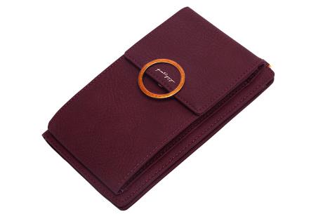 Portemonnee tasje | Met vele handige vakjes en ruimte voor je smartphone wijnrood