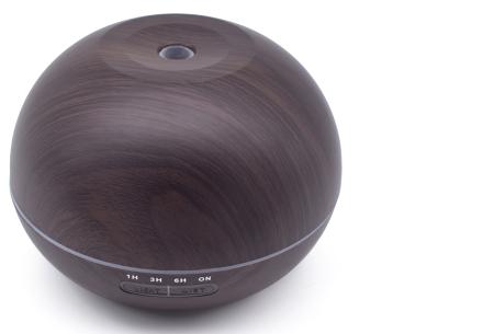 Aroma luchtbevochtiger XXL | Voorkom nare geurtjes en droge lucht in huis donkerbruin