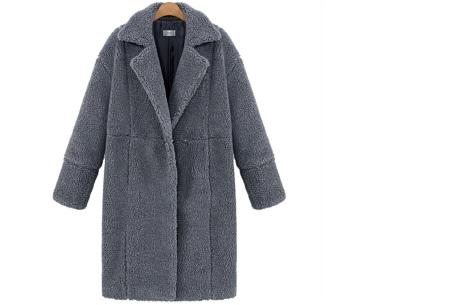 Teddy jas | Lange zachte teddy coat, musthave!  Grijs