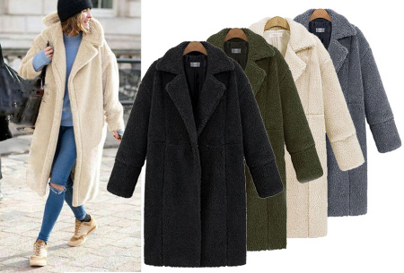 Lange Teddy Jas.Teddy Jas Lange Teddy Coat Aanbieding
