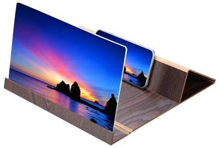 Smartphone schermvergroter | Vergroot je beeldscherm wel 4 tot 6 keer! donkerbruin