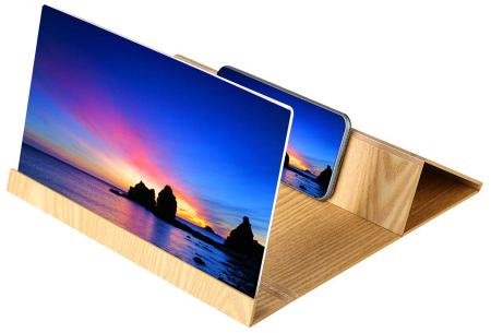 Smartphone schermvergroter | Vergroot je beeldscherm wel 4 tot 6 keer! lichtbruin