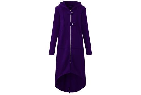 Oversized hoodie vest | Super comfy dames vest paars