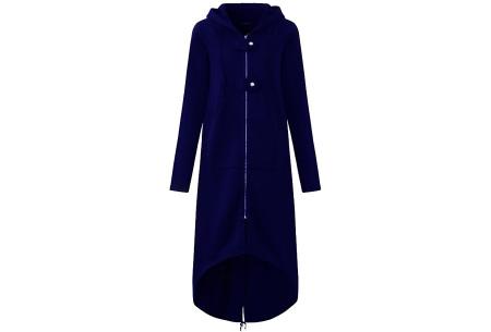 Oversized hoodie vest | Super comfy dames vest blauw