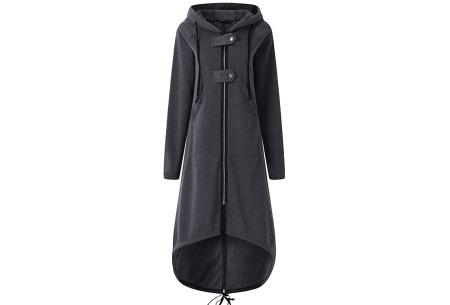 Oversized hoodie vest | Super comfy dames vest antraciet