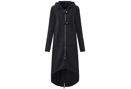 Oversized hoodie vest | Super comfy dames vest zwart